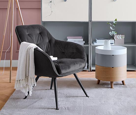 Fotel jednoosobowy o aksamitnym wykończeniu