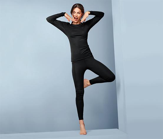 Női funkcionális termo aláöltözet, fekete