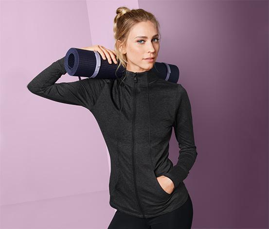 Női funkcionális dzseki, sötétszürke