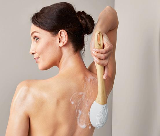 Elektrická sprchovacia a masážna kefa