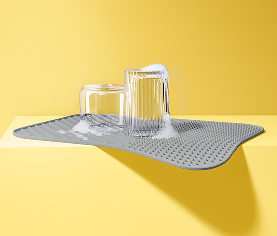 Geschirr-Abtropfmatte aus Silikon