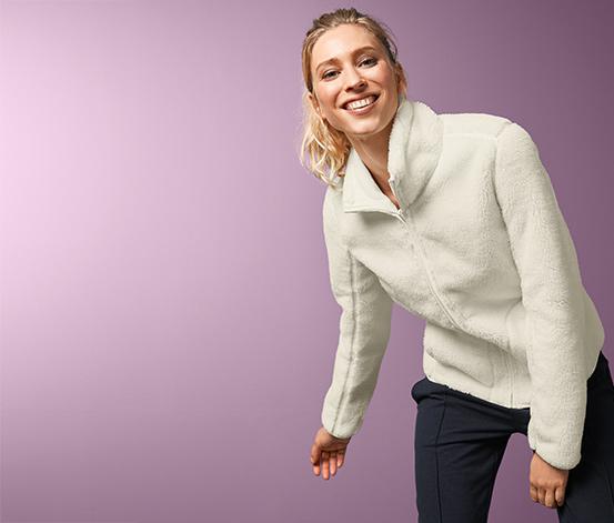 Obojstranná bunda z mikroflísu a plyšu