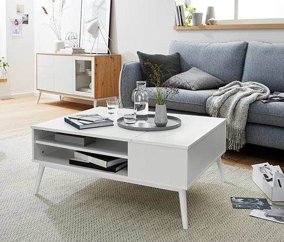 Soffbord med 2 uppfällbara brickor