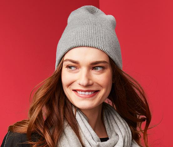 Pletená čepice s kašmírem