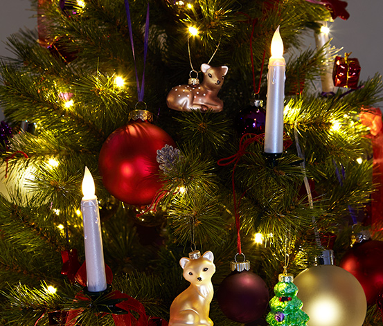 30 LED-Weihnachtsbaumkerzen