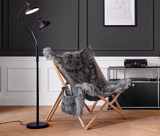 Fotel wypoczynkowy, sztuczne futro