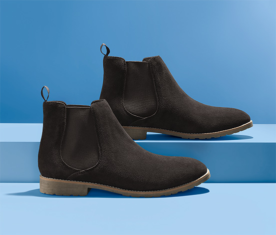 Chelsea boty z velurové kůže