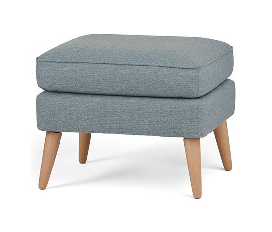 Polstrovaná stolička, šedá