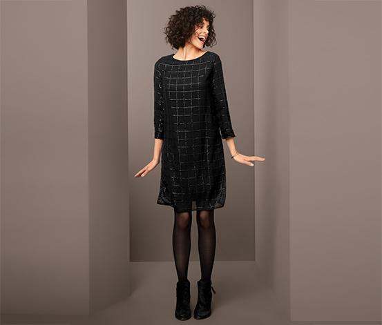 Sváteční šaty s pajetkovým vzorem