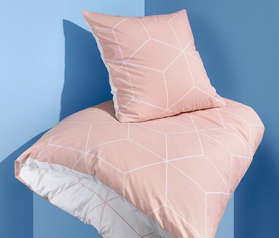 Kétoldalas perkál ágynemű, barack, egyszemélyes
