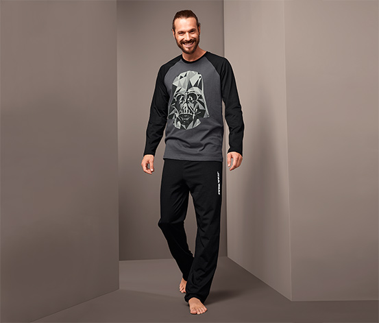 Férfi pizsama, Star Wars, fekete/szürke