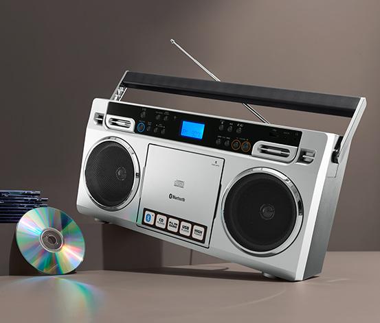 Prenosný boombox Lenco SCD-580 v štýle 80. rokov