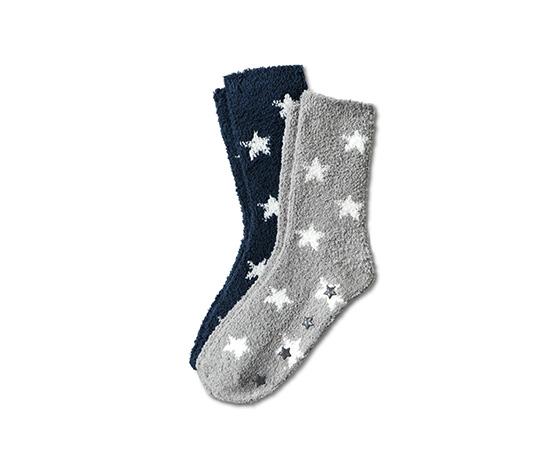 2 pár lány puha zokni szettben, csillagos