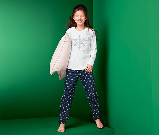 Lány pizsama, hópelyhes