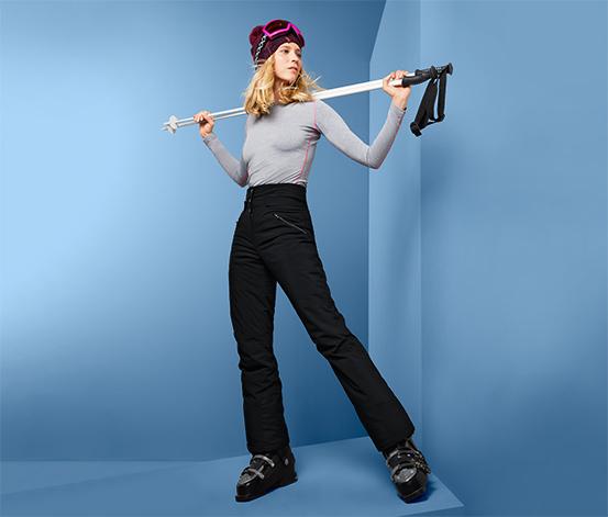 Softshellové lyžiarske nohavice s vysokým pásom
