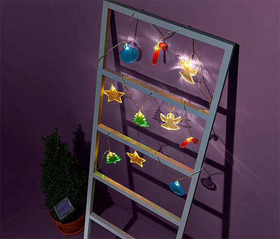 Napelemes LED-es karácsonyi égősor