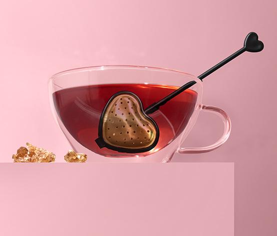 Sítko na čaj ve tvaru srdce