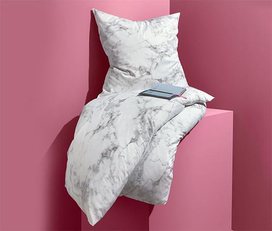 Perkál ágynemű, márvány minta, egyszemélyes