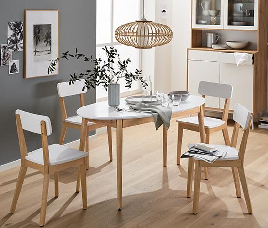 Stół rozsuwany z litego drewna jesionowego