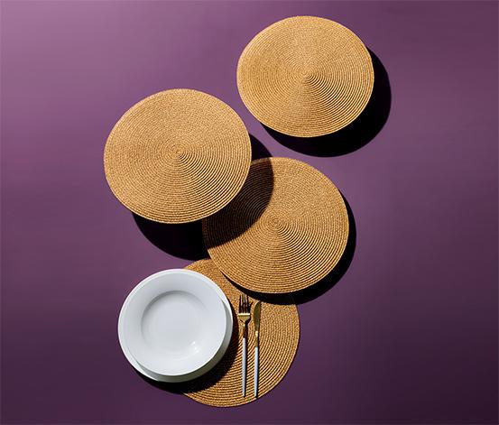 4 tányéralátét szettben, kerek