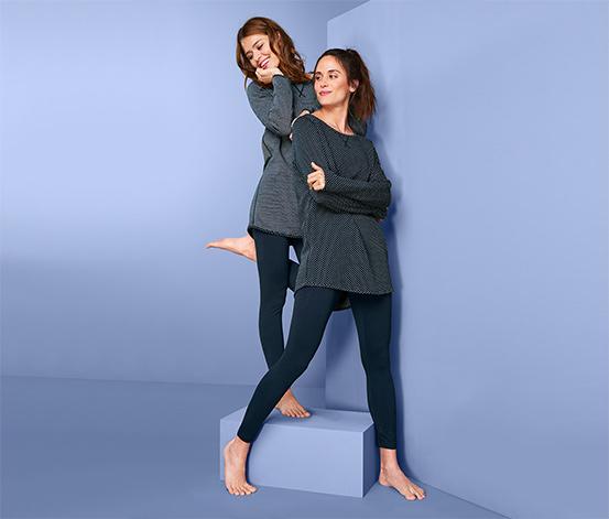 Női kifordítható pizsama, sötétkék