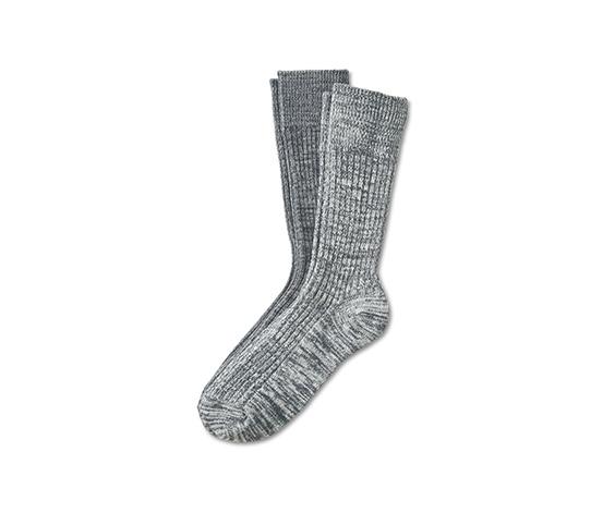 2 pár férfi kötött zokni szettben, szürke
