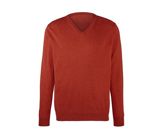 Sweter męski z wełny merino z dekoltem w serek