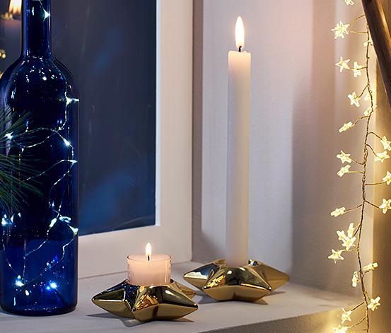 2 Keramik-Kerzenhalter