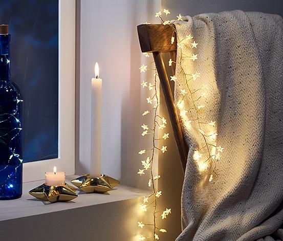 Girlanda s hvězdičkami s LED