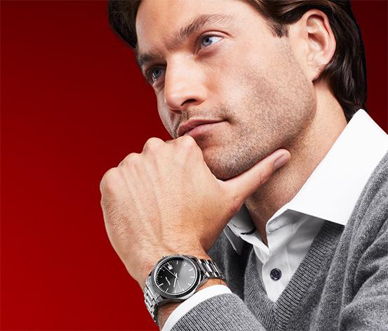 Zegarek męski z bransoletą ze stali nierdzewnej