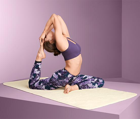 Schurwoll-Yogamatte