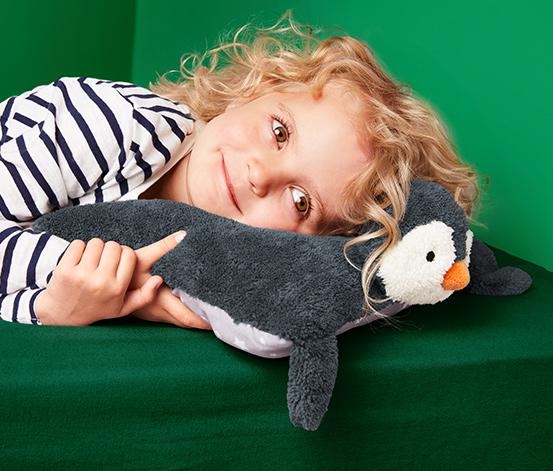 Miękka poduszka »pingwin« z kieszonką na piżamę