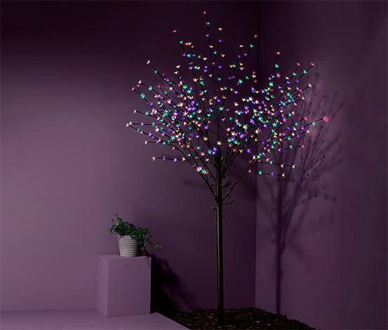 Světelný strom s květy s LED