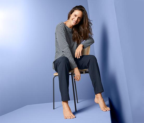 Dwuczęściowa piżama damska z bawełny ekologicznej