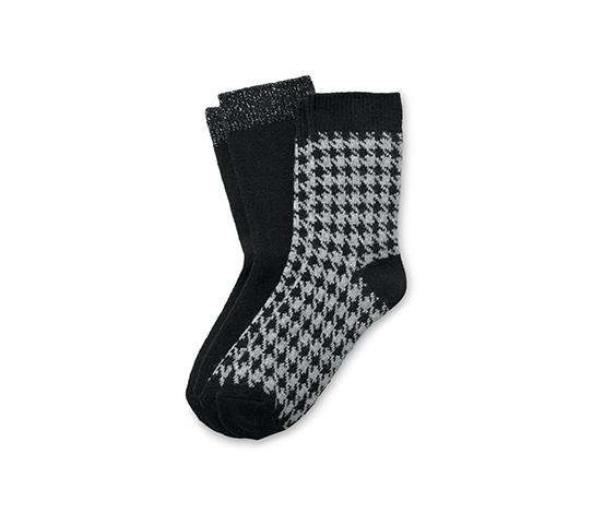 2 pár női zokni szettben, mintás