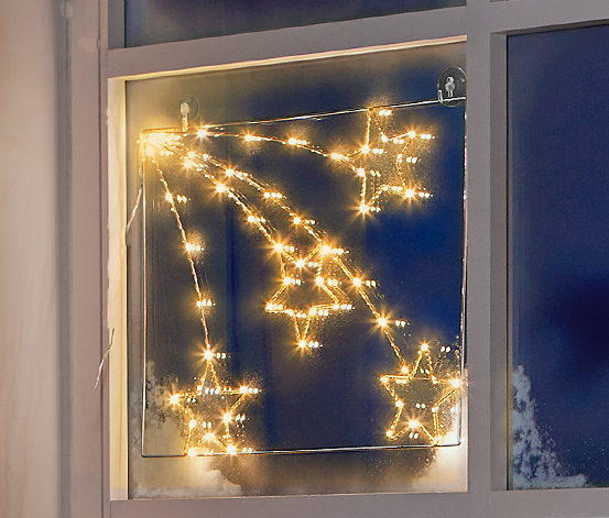 Dekorace s LED na okno
