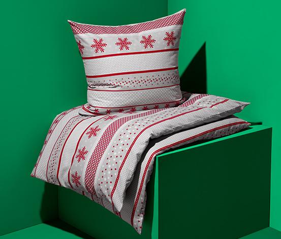 Pamutflanel ágynemű, hópelyhes, kétszemélyes