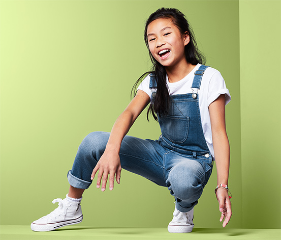 Džínové kalhoty s laclem