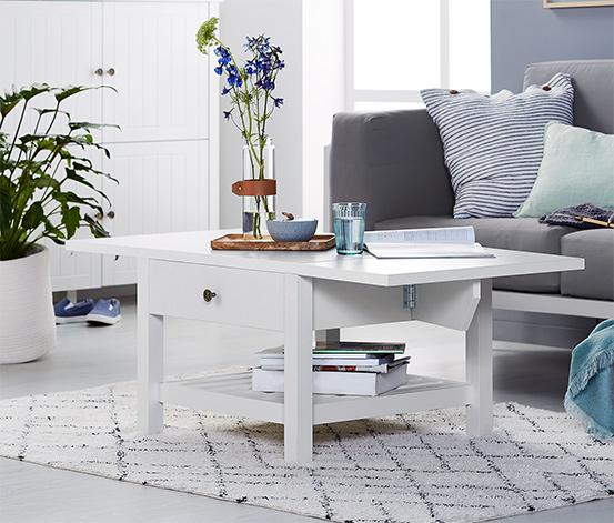 Table basse pliante avec 1 tiroir