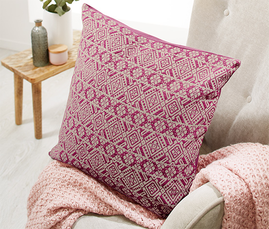 Kwadratowa poszewka z geometrycznym wzorem na poduszkę dekoracyjną