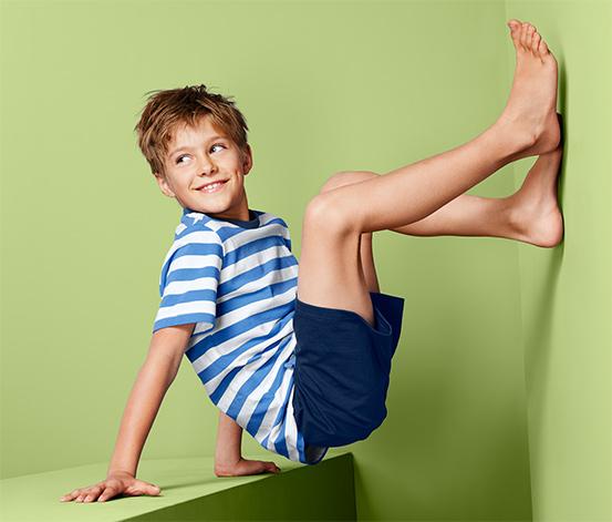Fiú rövidnadrágos pizsama, kék