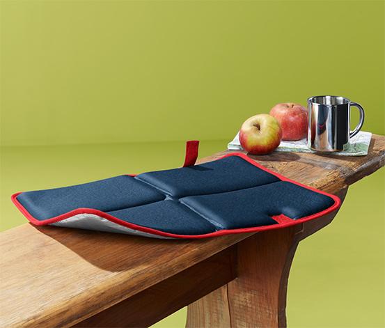 Wodoszczelna, składana poduszka termiczna do siedzenia