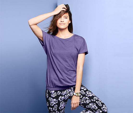 Tričko s krátkym rukávom a pohodlným lemom