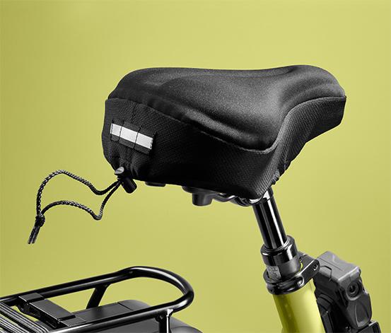 Piankowa nakładka na siodełko rowerowe z elementem odblaskowym