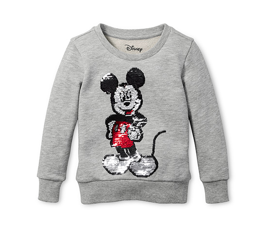 Lány pulóver, szürke, Disney, flitteres