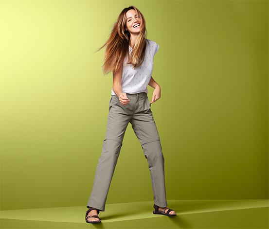 Női 2 az 1-ben funkcionális nadrág, bézs