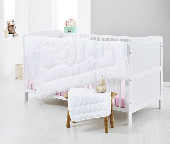 Täcke och kudde med kviltning för barn