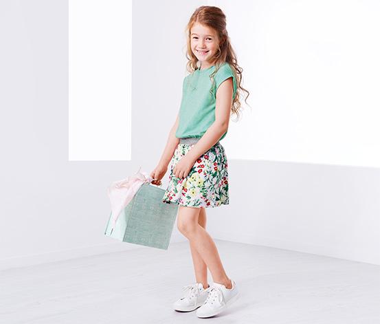 Kırçıllı Yeşil Organik Pamuklu Elbise