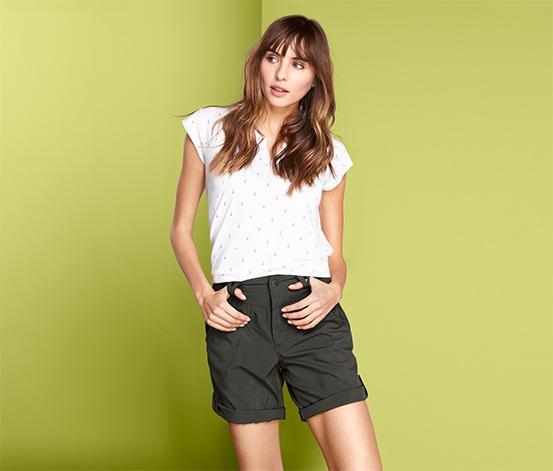 Női funkcionális rövidnadrág, khaki