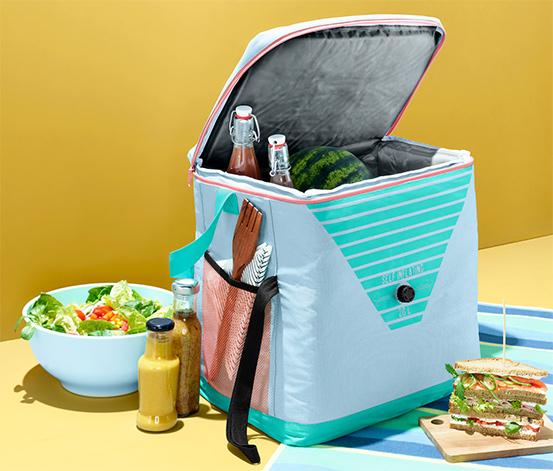 Piknikowa torba-lodówka w odcieniach niebieskiego